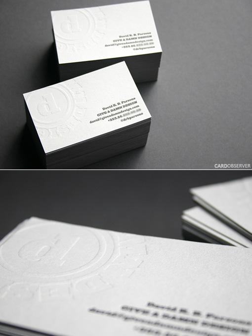 White Letterpress Card