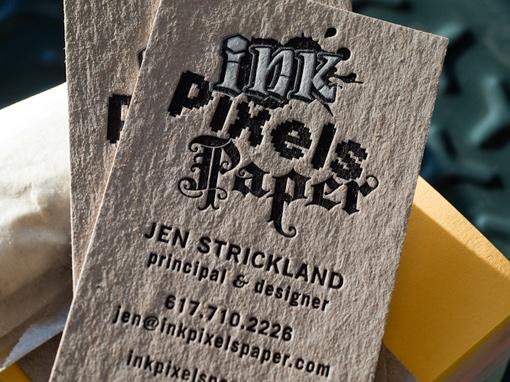 Ink Pixel Paper Letterpress
