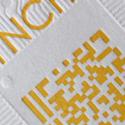 Square Letterpress Card