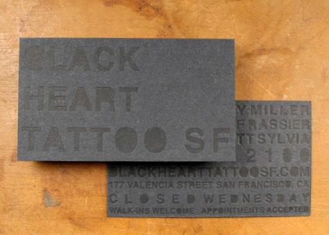 Black on Black Letterpress