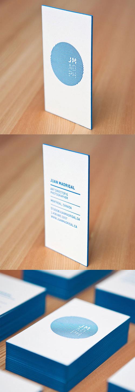 Bold Blue Letterpress