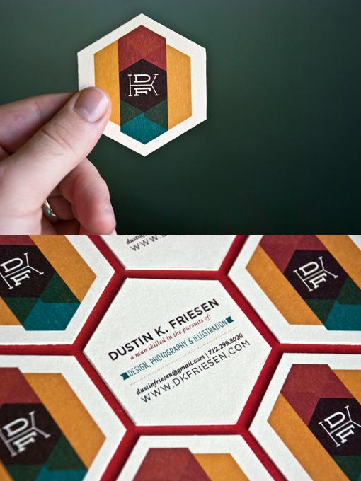 Hexagonal Business Cards