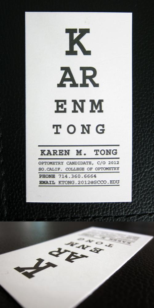 Optometrist Business Card