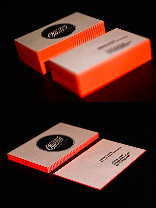 Bright Orange Letterpress