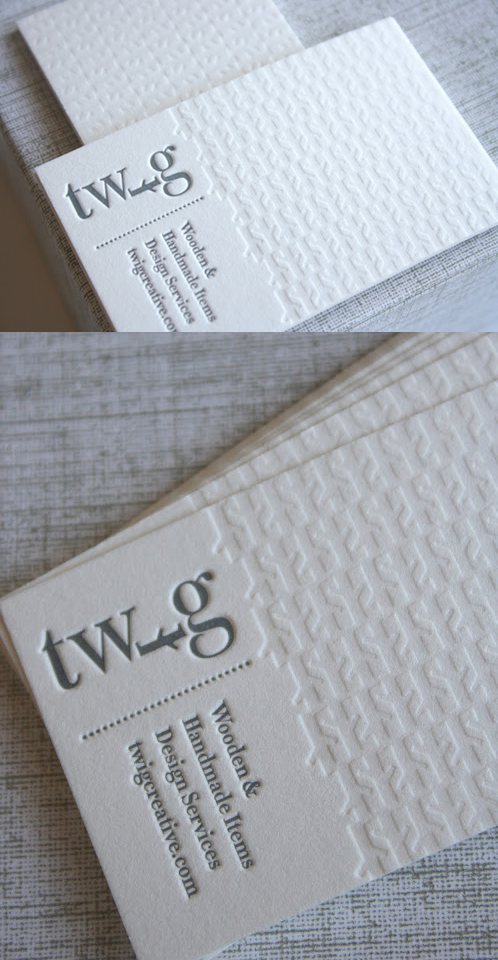 Clean White Letterpress