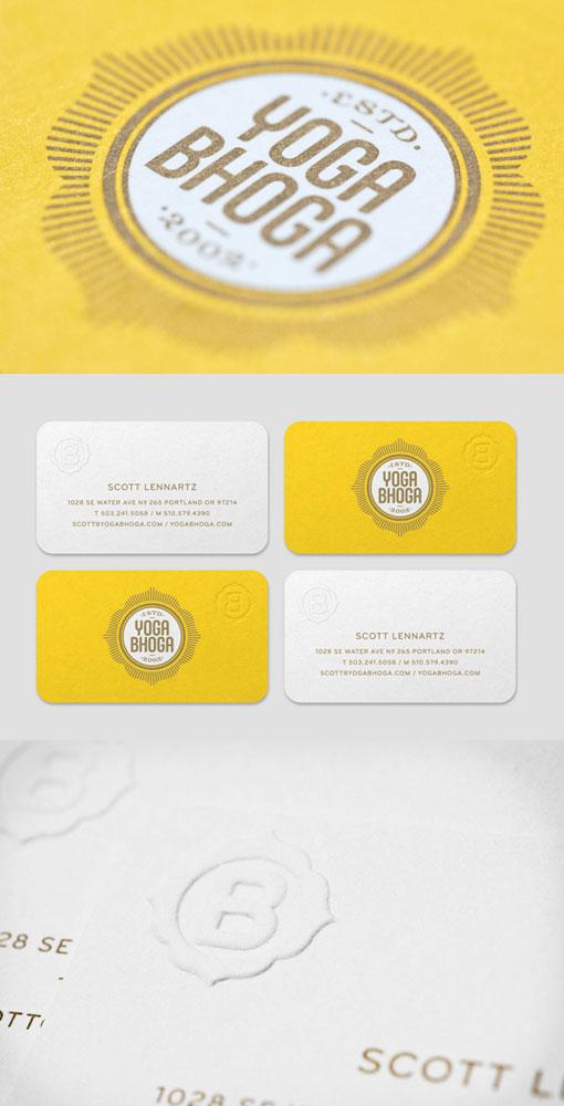 Yoga Bhoga Business Card