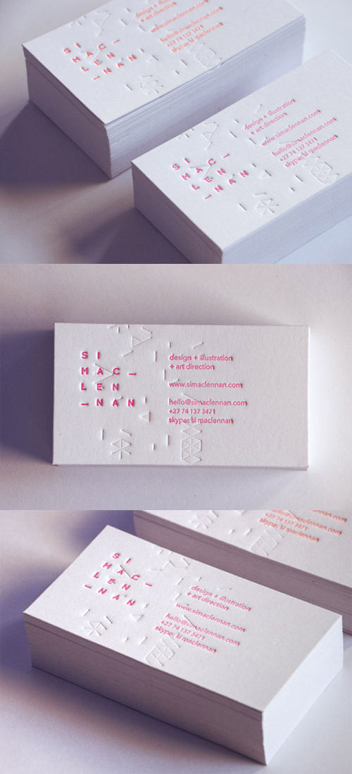 Patterned Business Cards