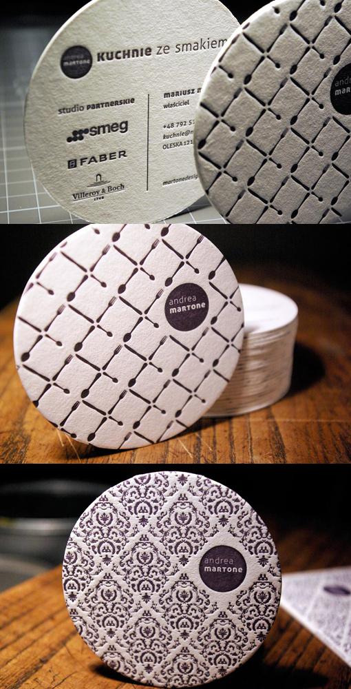 Rounded Letterpress Design