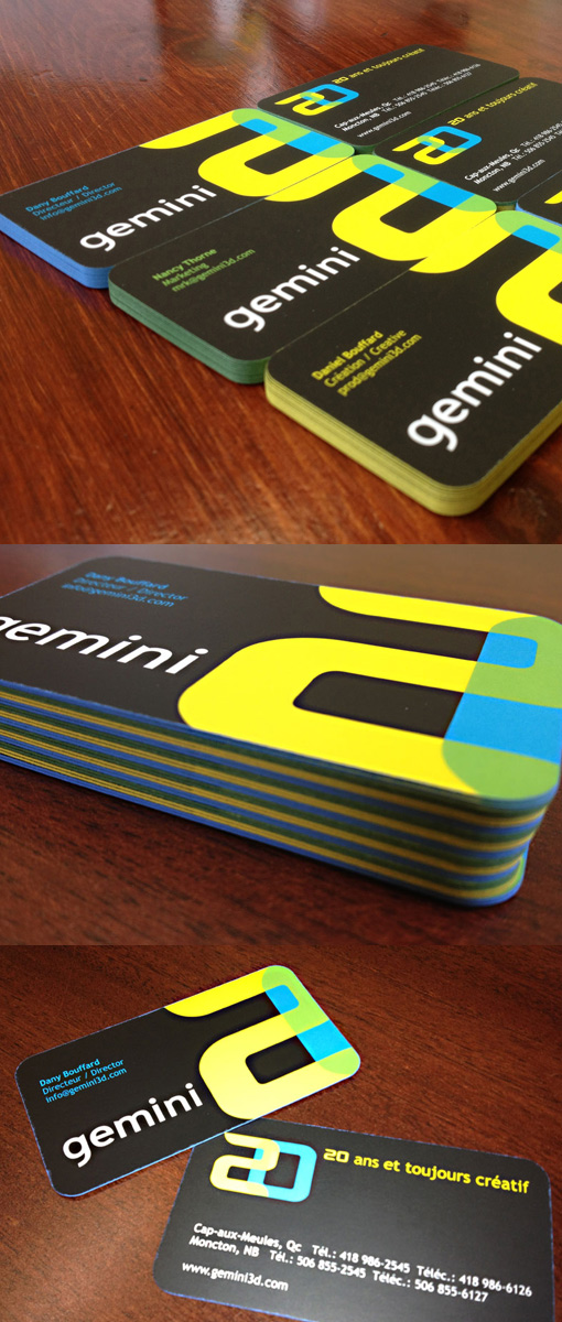 Gemini 3D Business Card