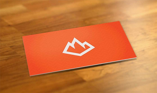 Bright Orange Business Card