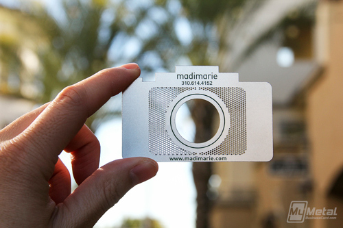 Metal Photographer Cards