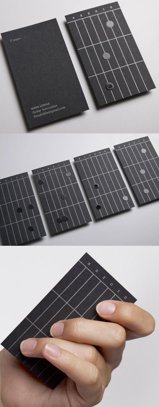 Guitar Business Cards Cardobserver