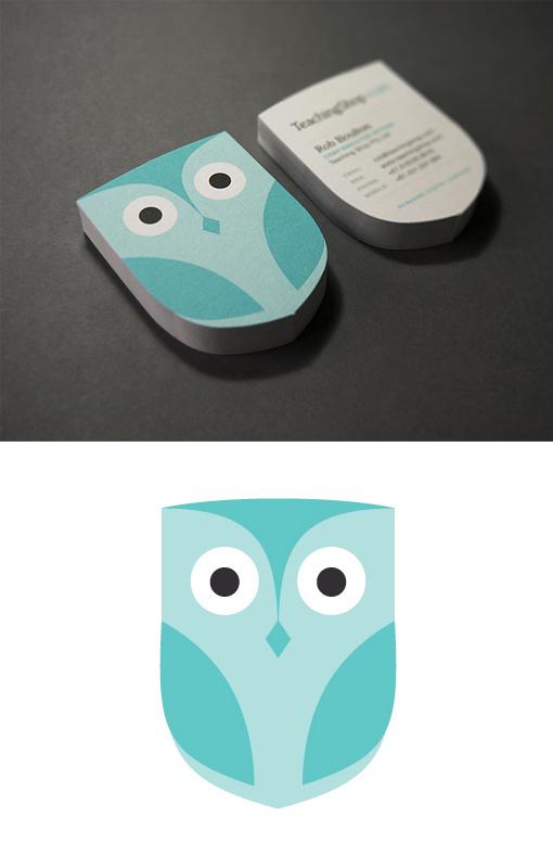 Cute Custom Die-Cut Business Card Design