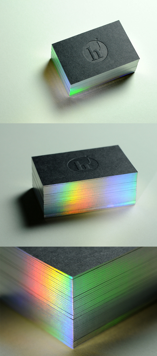 Diffraction edge painted letterpress business card cardobserver diffraction edge painted letterpress business card reheart Choice Image