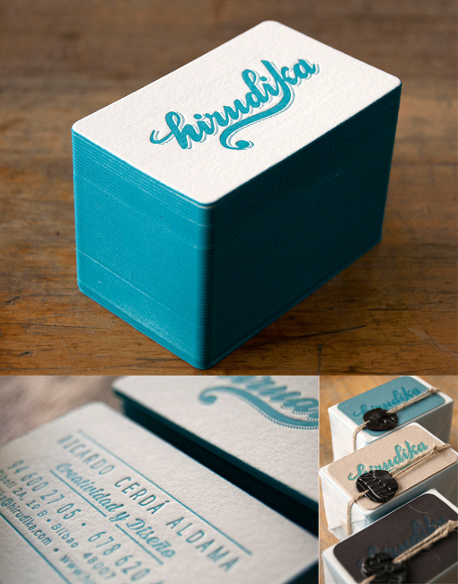 Beautifully Designed Edge Painted Letterpress Business Card