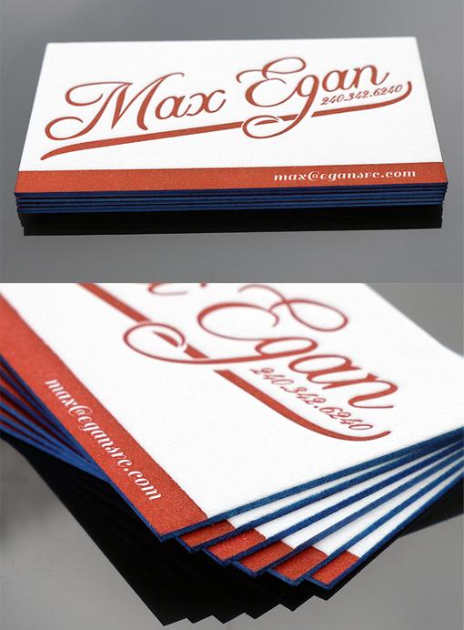 Contrast Edge Painted Letterpress Business Card