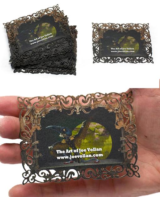 Intricate Laser Cut Business Card For An Artist