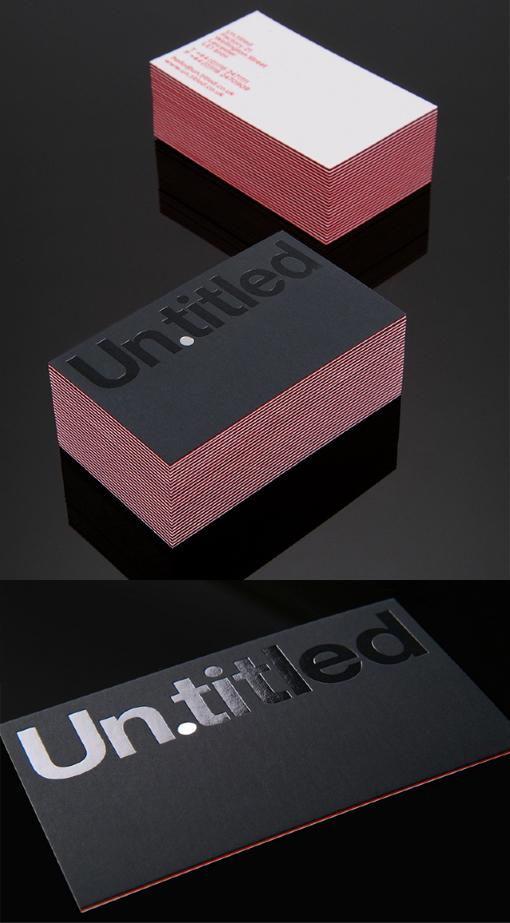 Minimalist Design Laminated Foil Business Card