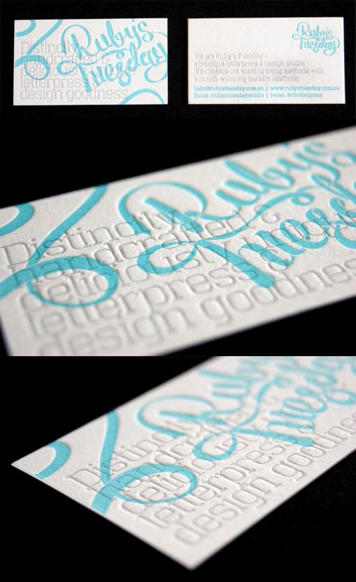 Creative Typography Letterpress Business Card Design