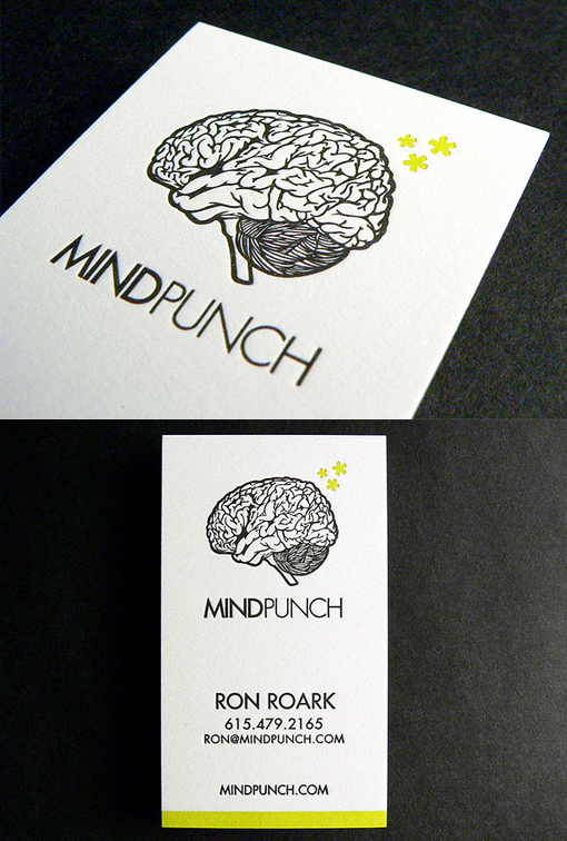 Quirky Letterpress Business Card For A Designer