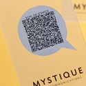 Scratch Or Scan Clear Plastic Business Card Design