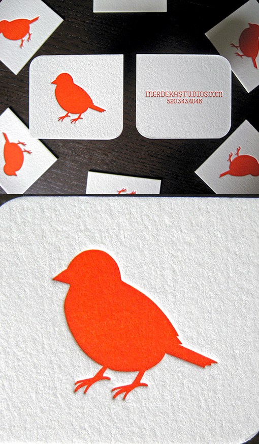 Slick And Simple Design Letterpress Business Card For A Wedding Photographer