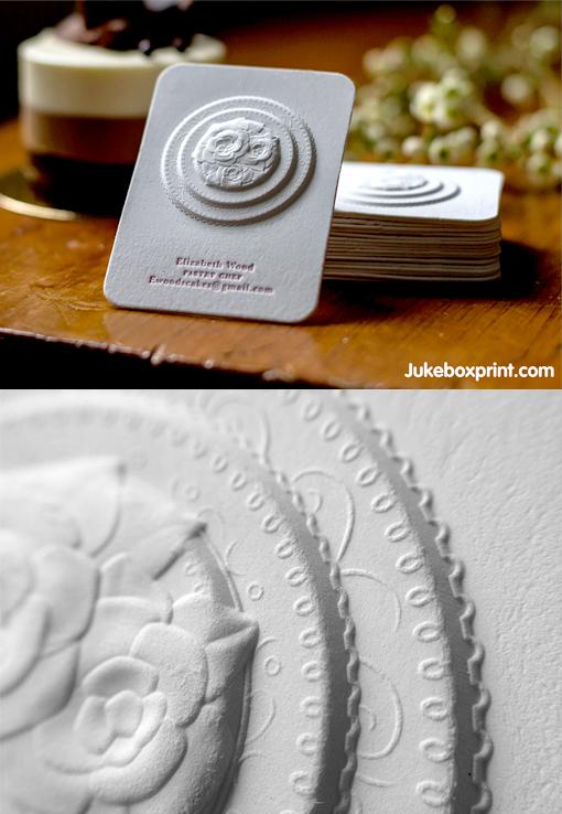 Amazing Multi-Level Embossed Letterpress Business Card
