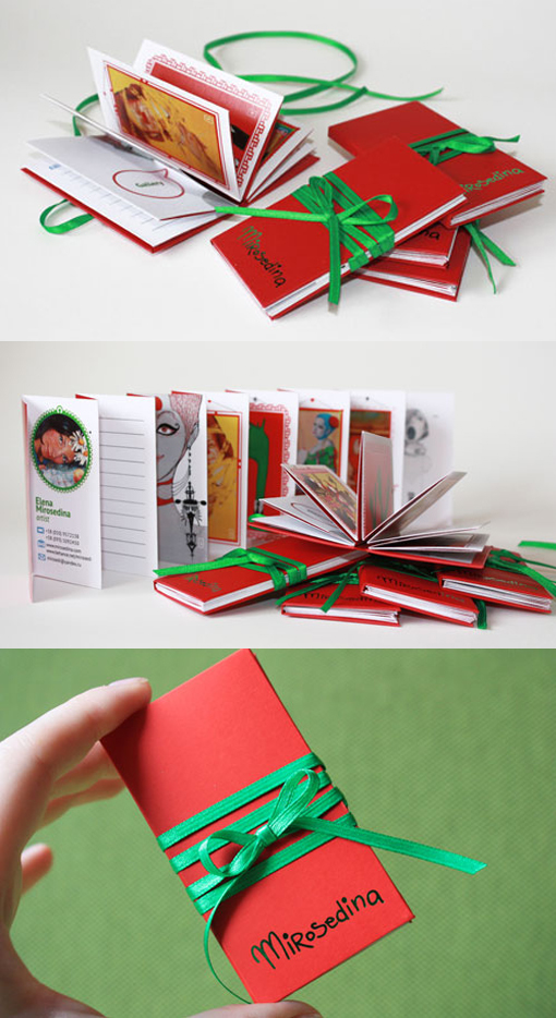 Incredible Miniature Book Business Card Displays A Gallery Of An Artist's Work