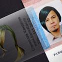 Interactive Plastic Business Card Design For A Hair Salon