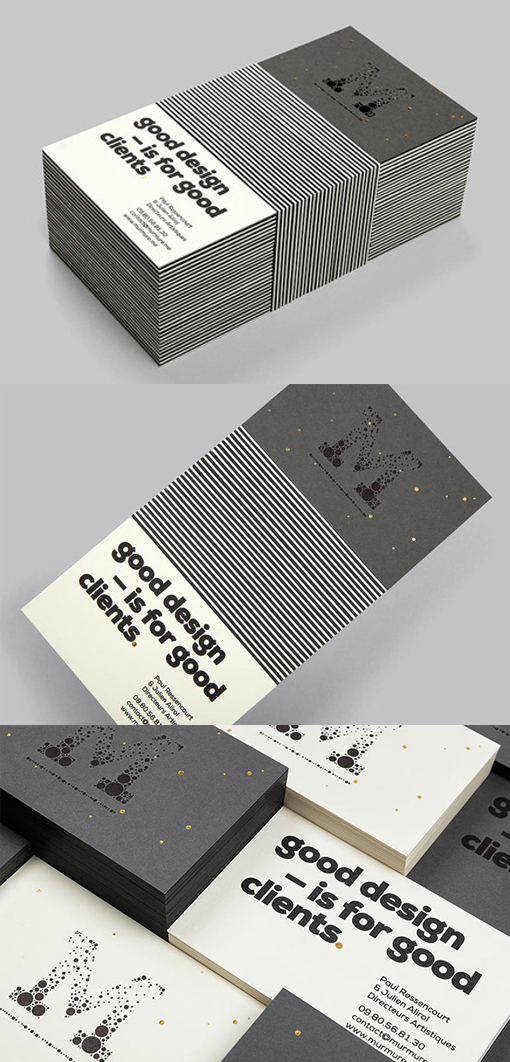 Black And White Business Card For A Design pany