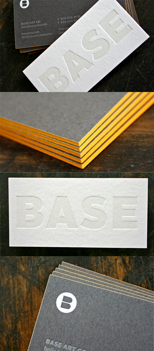 Chunky Edge Painted Letterpress Business Card Design
