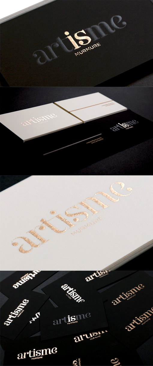 Classically Styled Black And White Business Cards For An Art Co-op