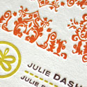 Gorgeous Pattern And Texture On A Letterpress Printed Business Card