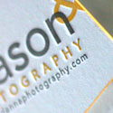 Letterpress Edge Painted Business Card Design For A Photographer