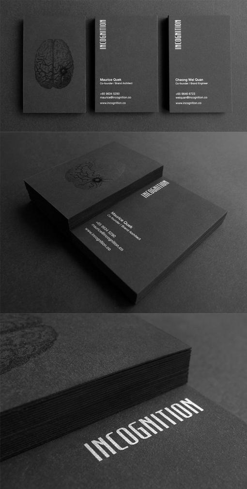 Dark And Mysterious Inspired Black Business Card Design| CardObserver