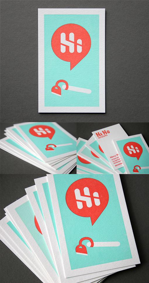 Clever Illustration For A Letterpress Business Card| CardObserver