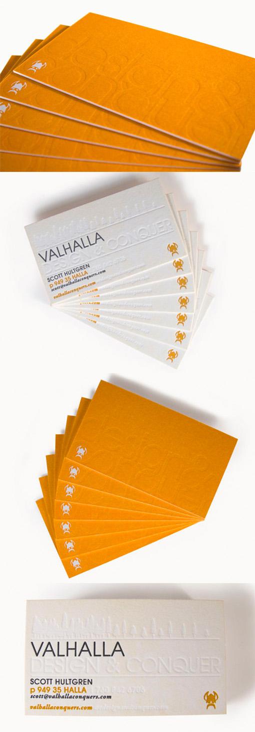 Textured Letterpress Business Card For A Designer
