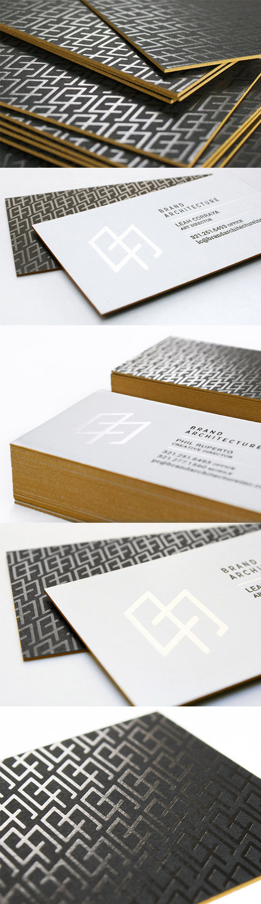 Sleek foil embossed black and white business card design for an sleek foil embossed black and white business card design for an architect magicingreecefo Choice Image