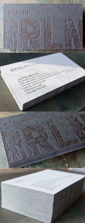 Unique Textured Letterpress Business Card Design