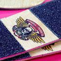 Clever Wooden Skateboard Textured Business Card Design