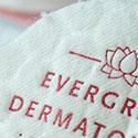 Unique Cotton Business Cards With Letterpress For A Dermatologist