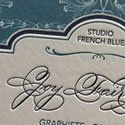 Exquisite Hand Drawn Typography On A Letterpress Business Card For A Professional Calligrapher