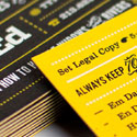 Great Typography On A Bold Black And Yellow Business Card