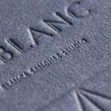 Stylish Textured Letterpress Business Card Design