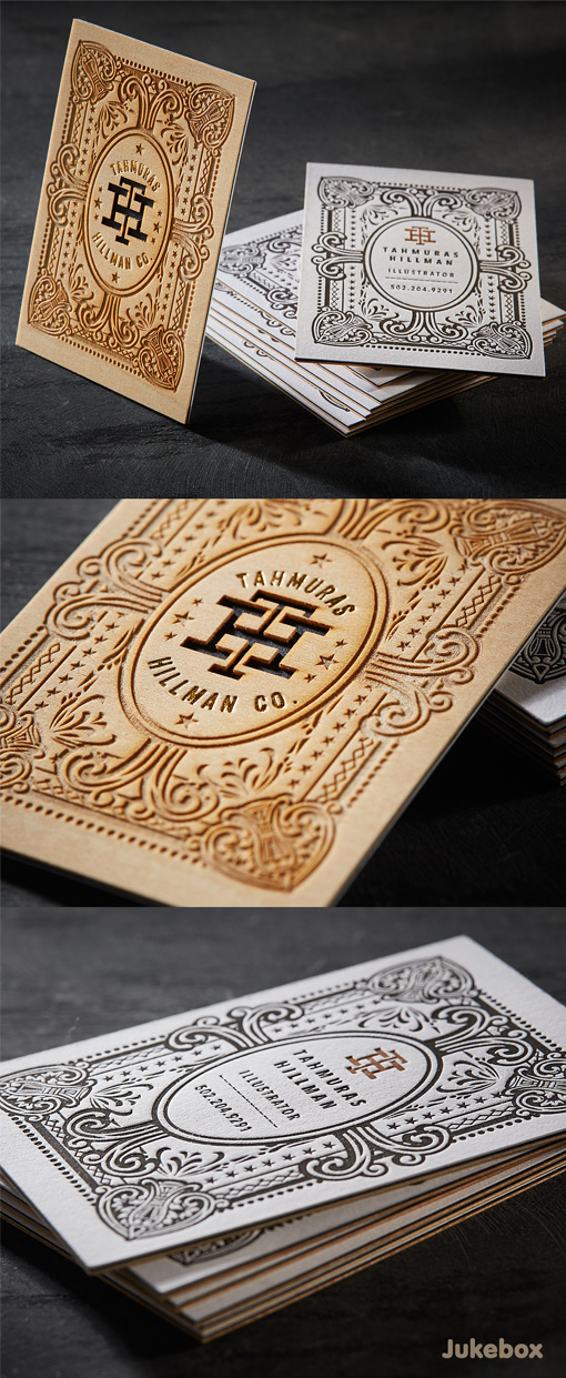 Impressive 3ply Wood Business Cards with Laser Etching| CardObserver