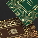 Highly Decorated Gold Foil Business Card Design For A Fashion Brand
