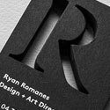 Sophisticated Black And White Custom Die Cut Business Card Design