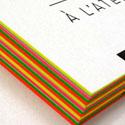 Stunning Neon Edge Painted Letterpress Business Card