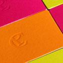 Bright Neon Letterpress Business Cards For A Makeup Artist