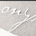 Earthy Textured Embossed Letterpress Business Card Design